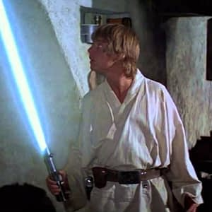 Luke with Lightsaber